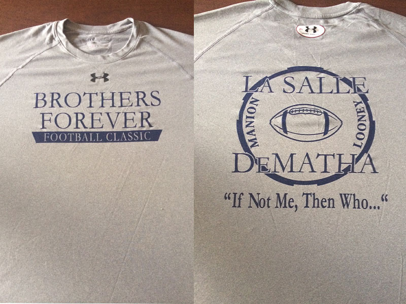 Football Team to Face DeMatha Catholic in 'Brothers Forever' Game