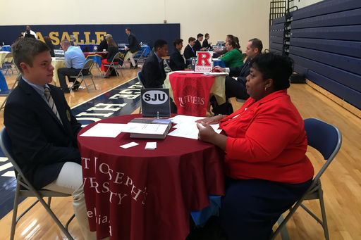 58 Admissions Representatives Attend College Interview Day