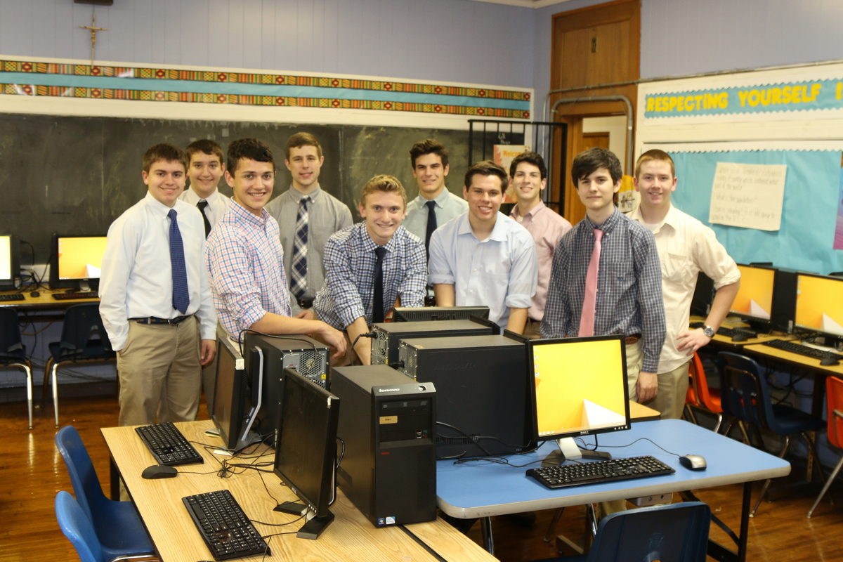 La Salle's Community TechServe and Ascensus Donate Computer Lab to School in Need