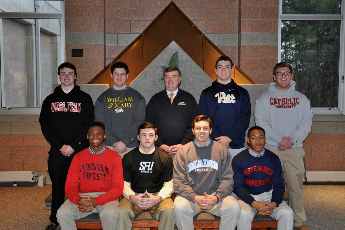 Eight Senior Football Players Sign National Letters of Intent
