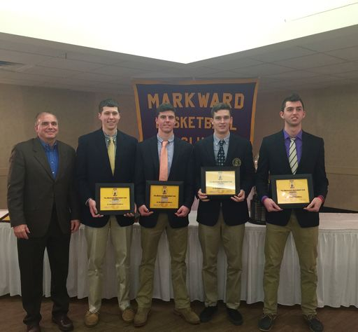 Senior Basketball Players Honored at Markward Club Dinner