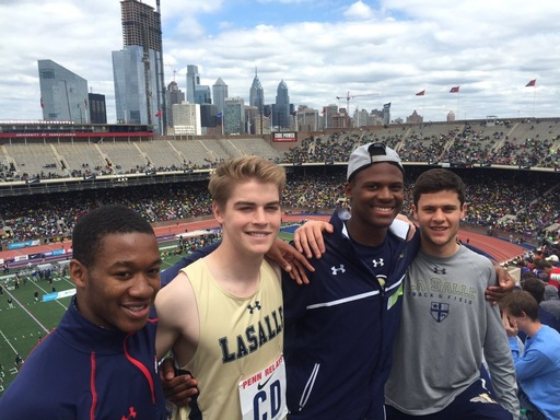 Track Team Sets School Record in 4x100 At 2016 Penn Relays