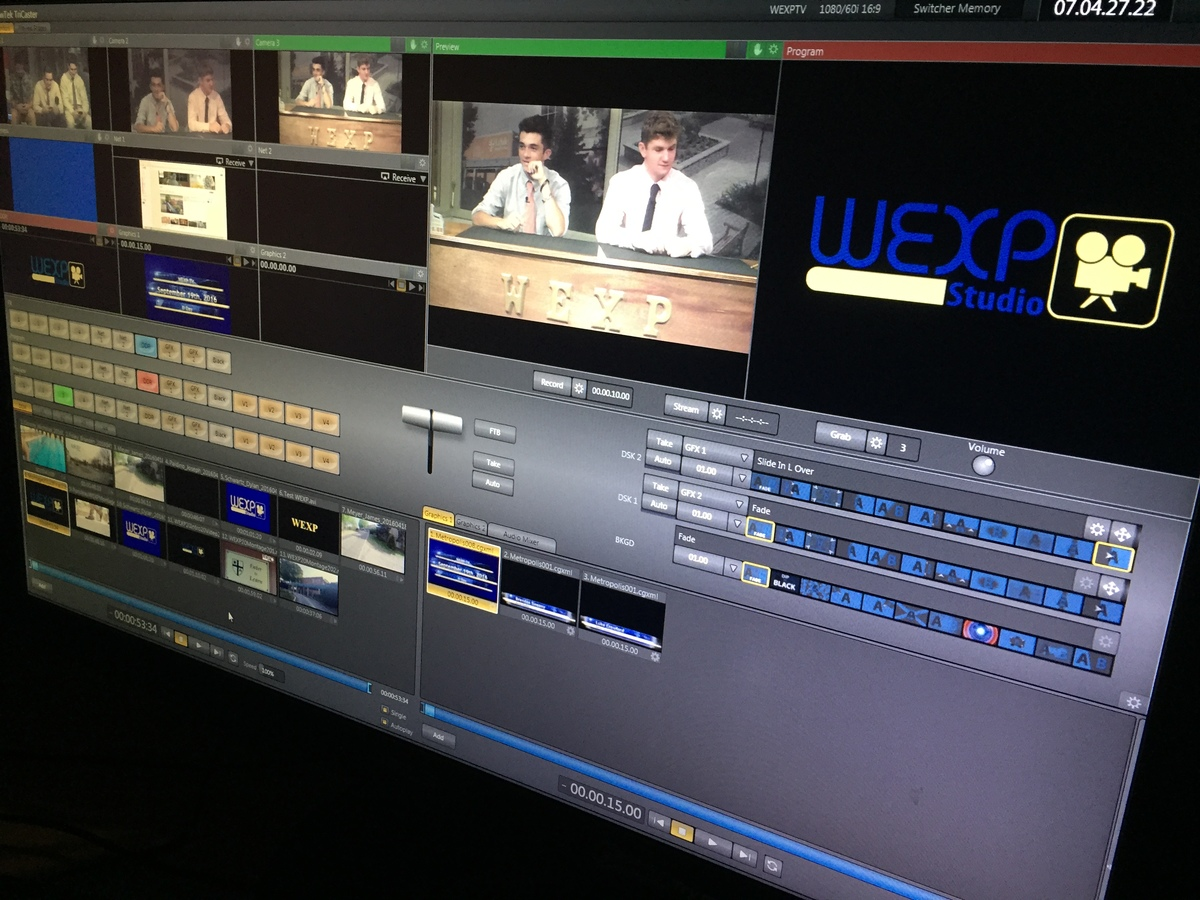 WEXPTV Makes Season Debut for 2016-17 School Year