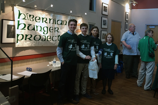 Irish Club Supports Hibernian Hunger Project