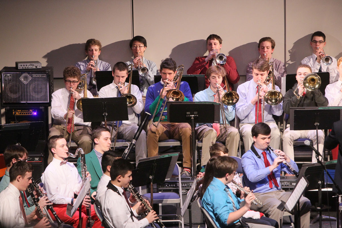 La Salle Band Performs Christmas Concert To A Packed House