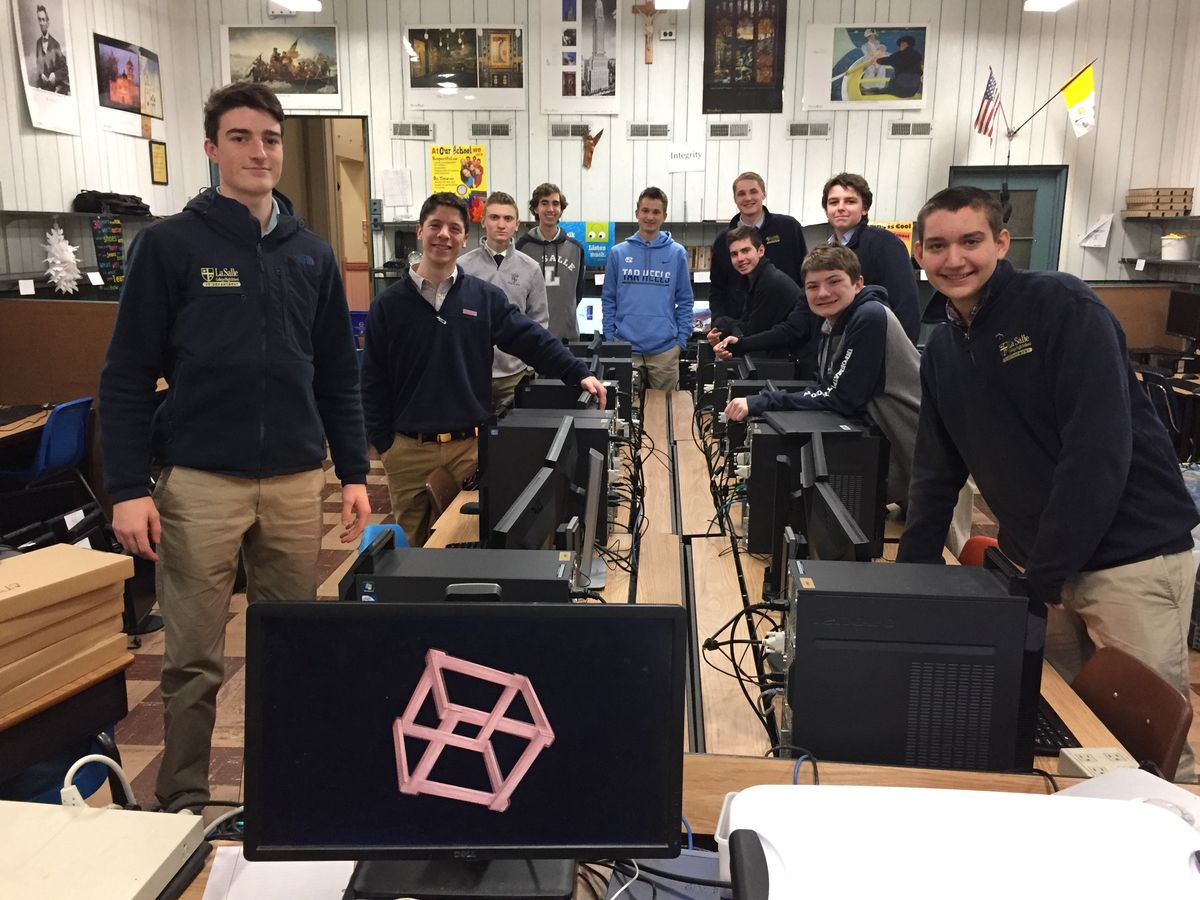 La Salle's Community TechServe Program and Ascensus Donate New Computer Lab to Visitation BVM School
