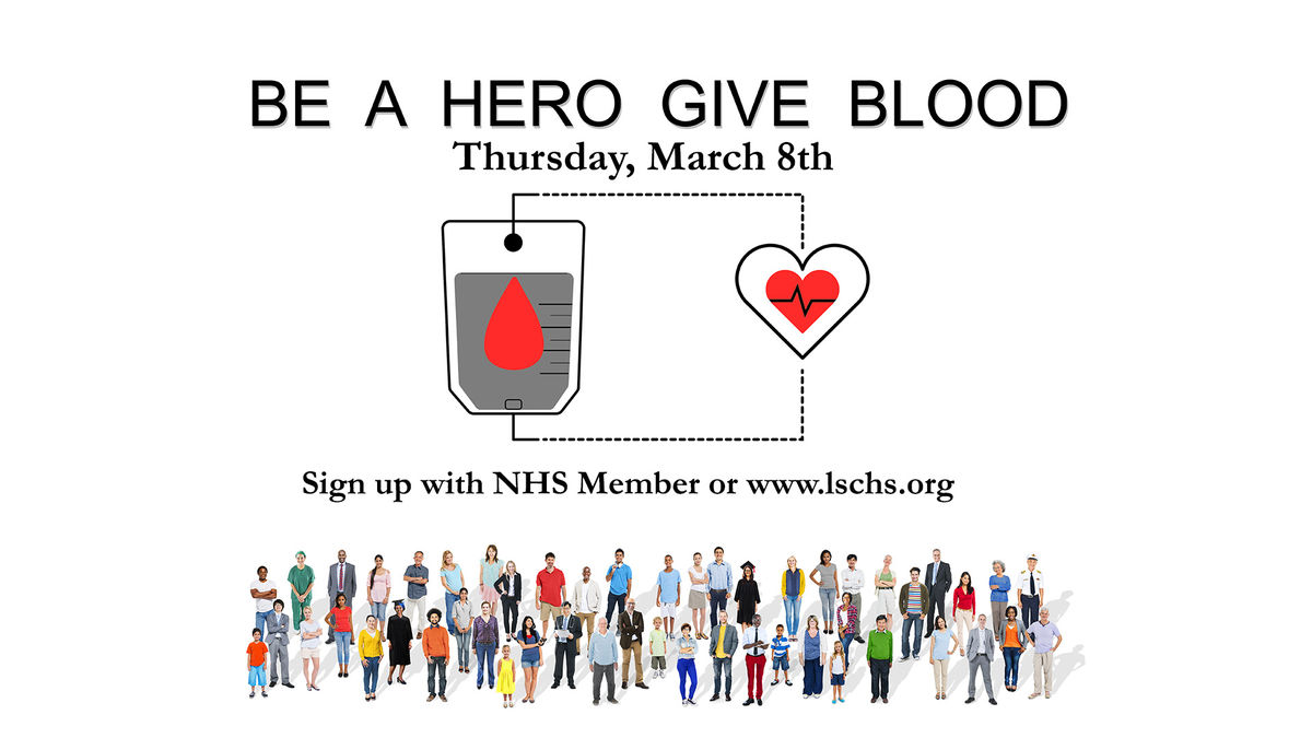 Sign Up Form For March 8th Blood Drive