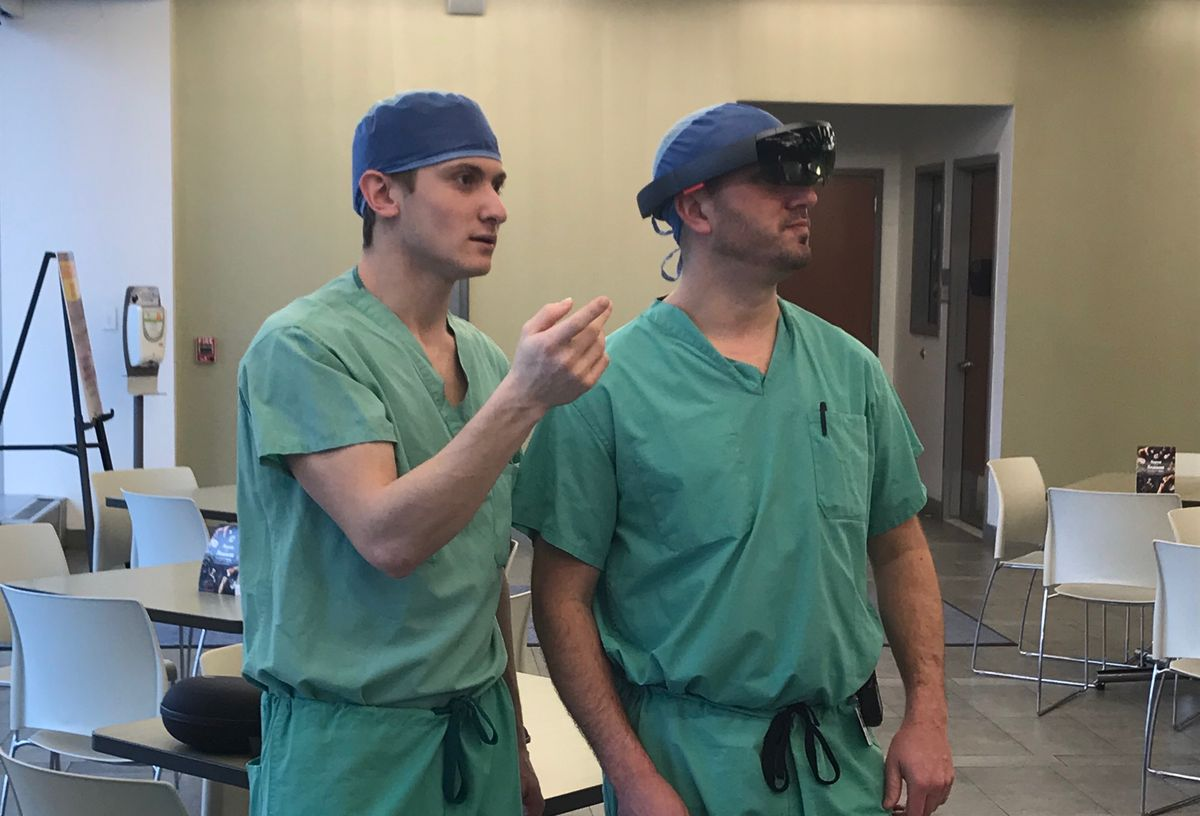 Lab Manager President Showcases Microsoft Hololens Technology at Einstein Medical Center