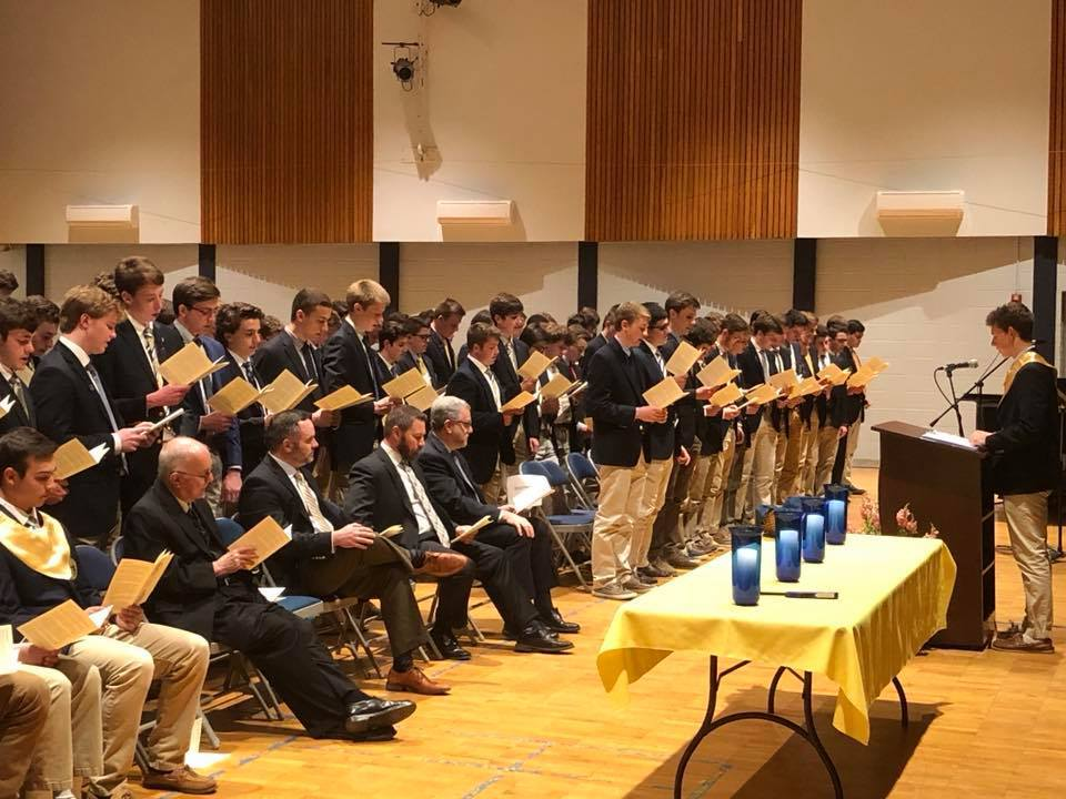 Ninety-Four Students Inducted Into The De La Salle Chapter of the National Honor Society