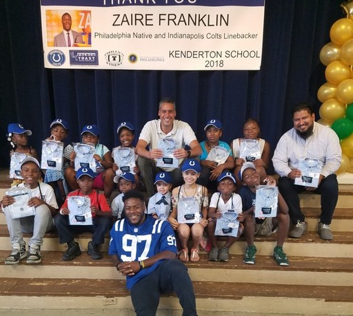 Indianapolis Colts Linebacker Zaire Franklin '14 Donates School Uniforms To North Philadelphia School