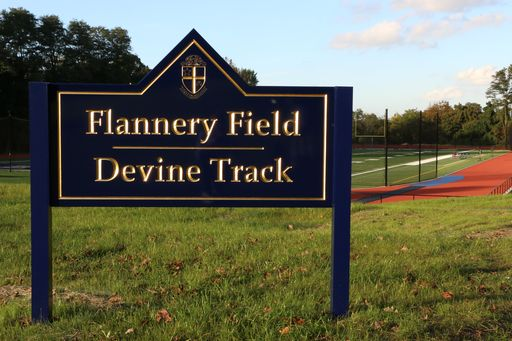 Explorers Gather For Dedication Of Renovated Flannery Field and Devine Track