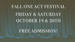 La Salle Theater Performing 6th Annual Fall One Act Festival