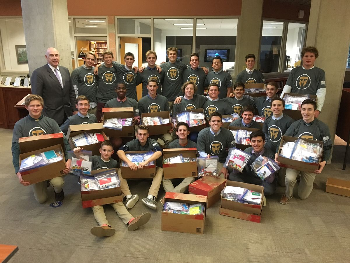 Water Polo Team Sends Care Packages To Troops At Camp Manion in Iraq