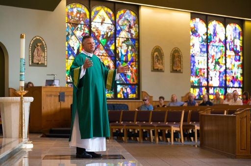 Steve Javie '72 Goes From The Hardwood To Homilies