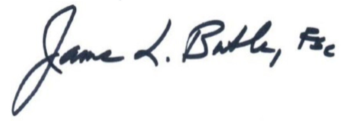 Signature of Brother James L. Butler